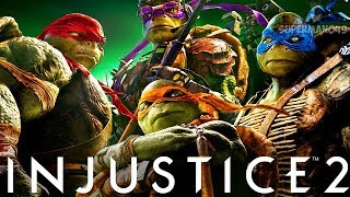"NINJA TURTLES FIGHT AS A TEAM! AWESOME COMBOS - Injustice 2 ""Ninja Turtles"" Leonardo Gameplay"