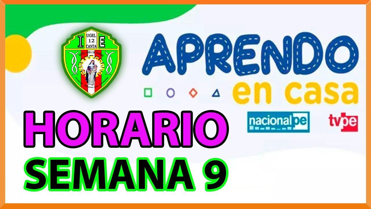 HORARIO APRENDO EN CASA SEMANA 9 DEL 01 AL 05 DE JUNIO TV ...