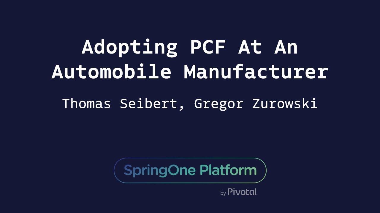 Seibert Gmbh adopting pcf at an automobile manufacturer gregor zurowski