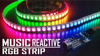 How To Make DIY Music Reactive RGB LED Strip (WS2812B)