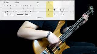 Red Hot Chili Peppers - Naked In The Rain (Bass Cover) (Play Along Tabs In Video)