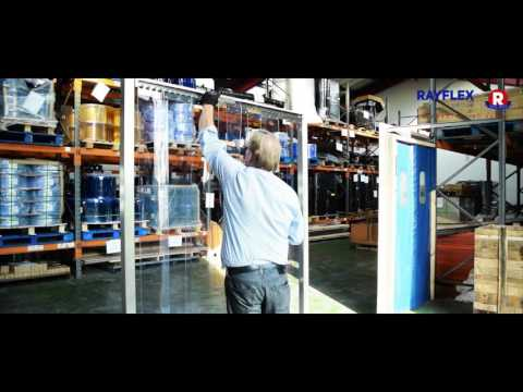 Installation Hook Type Fixing For Rayflex PVC Strip Curtains - Rayflex Group