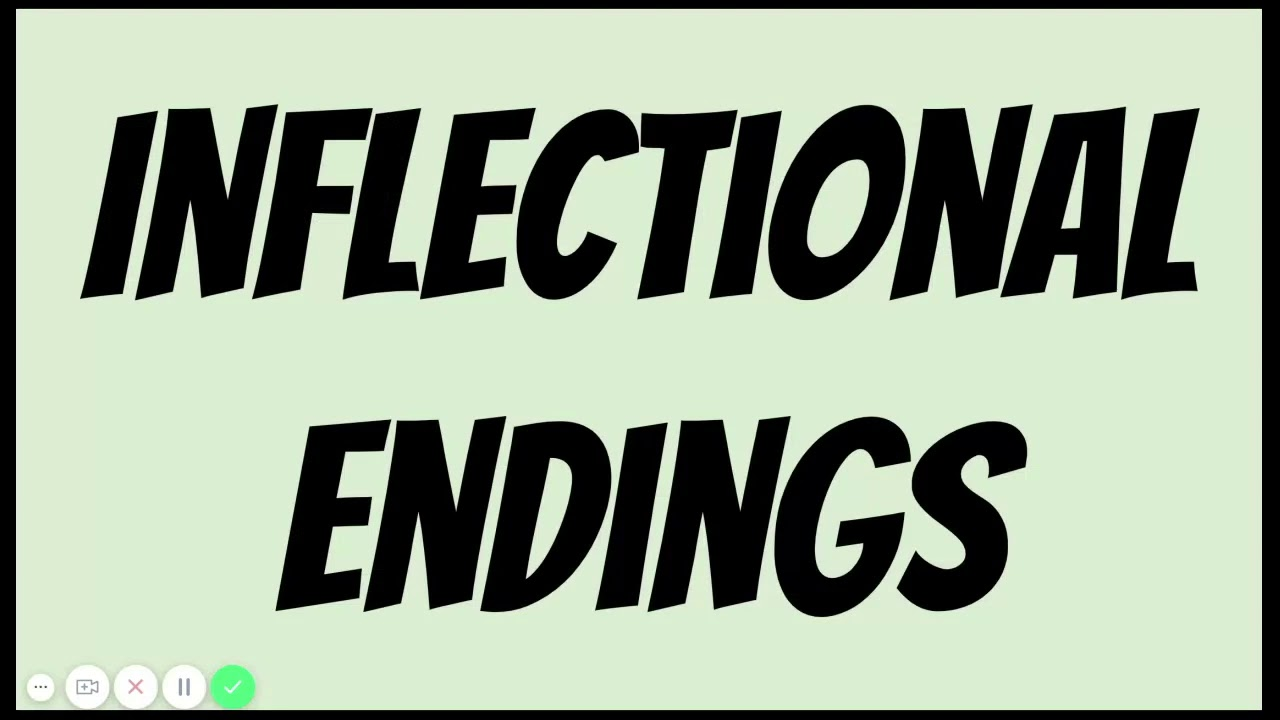 hight resolution of Inflectional Endings - YouTube
