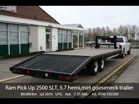 Dodge Ram Pick Up 2500 SLT, 5.7 hemi,met gooseneck trailer - YouTube