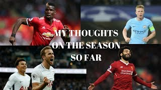 MY THOUGHTS ON A VERY SURPRSING SEASON SO FAR!