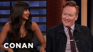Jameela Jamil Had Crushes On Conan & Forrest Gump Growing Up - CONAN on TBS