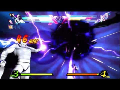 UMvC3 (Heroes and Heralds) Magneto Gravity Squeeze to the 3rd power