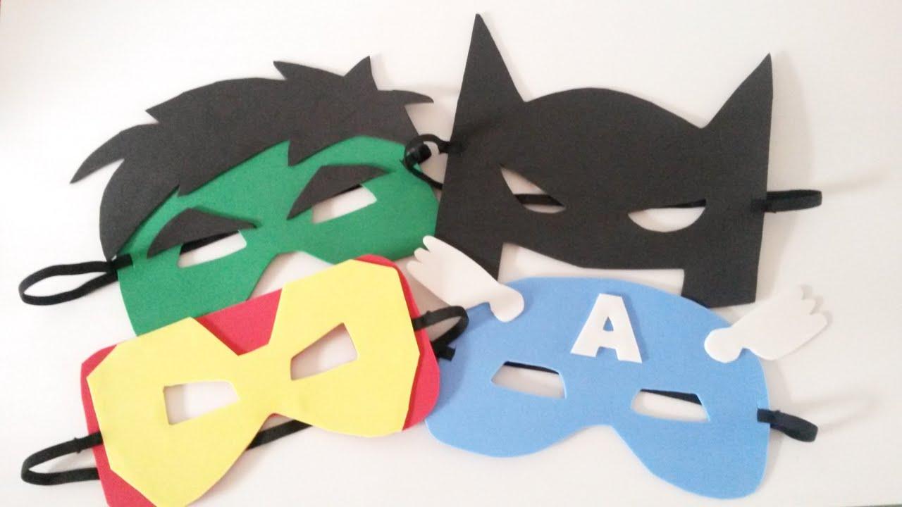 Como Fazer Mascaras De Super Herois Mascaras De Eva Youtube