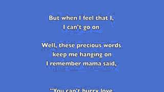 Phil Collins You Can't Hurry Love- Lyrics