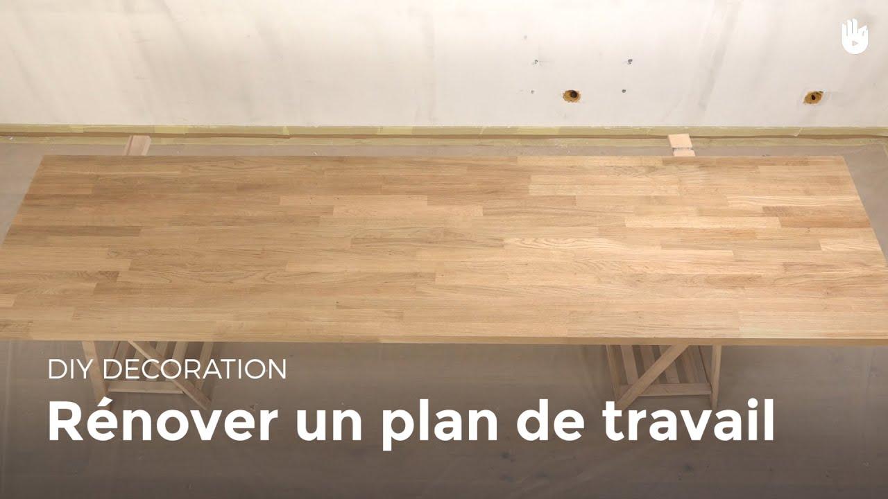 R nover un plan de travail bricolage youtube - Recouvrir un plan de travail carrele ...