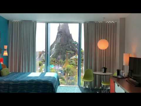 Universal Studios Cabana Bay Resort Volcano Bay View Room Tour