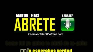 ABRETE - Martin Elias - Karaoke