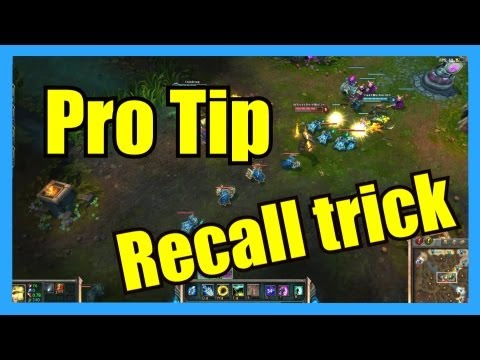 Pro Tip: Seeing through fog of war by using your recall animation | League of Legends