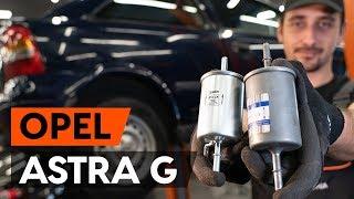 Hoe een brandstoffilter vervangen op een OPEL ASTRA G CC (F48, F08) [HANDLEIDING AUTODOC]