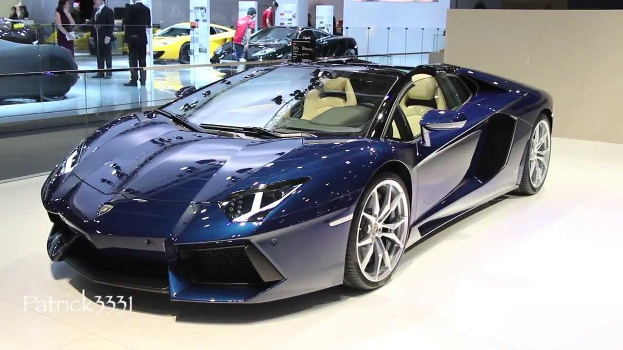 Lamborghini Aventador Lp700 4 Roadster Dubai Motor Show 2013 Youtube