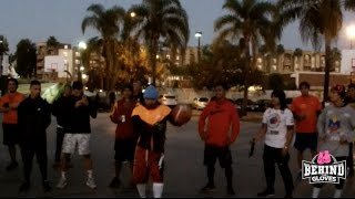 MANNY PACQUIAO PLAYS BASKETBALL WITH FANS @ PARK IN THE EARLY MORNING HOURS OF TRAINING
