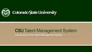 Introduction to csu's talent management system (tms)