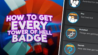 [UPDATED] How to get EVERY BADGE in TOWER OF HELL | Roblox ToH badge tutorial