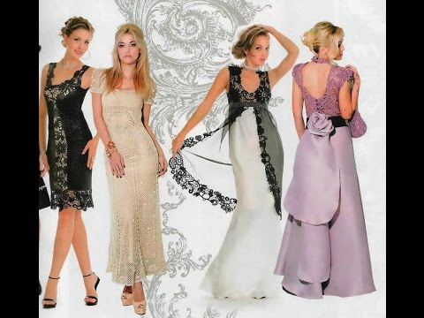 Смотреть Красивые вязаные платья. Beautiful crochet dresses