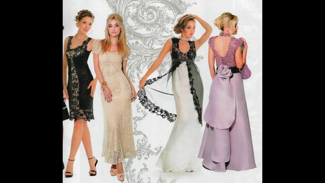 Красивые вязаные платья. Beautiful crochet dresses