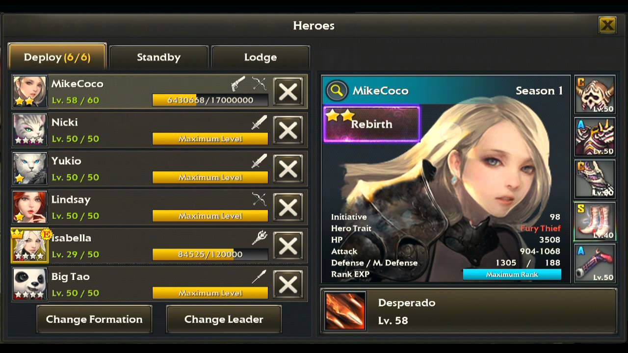Legion of Heroes   How to Rebirth Your Character   LoH Guide