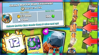 NEW BATTLE RAM CHALLENGE!! • Clash Royale GAME MODE!