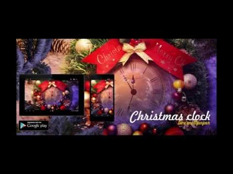 Christmas clock live wallpaper