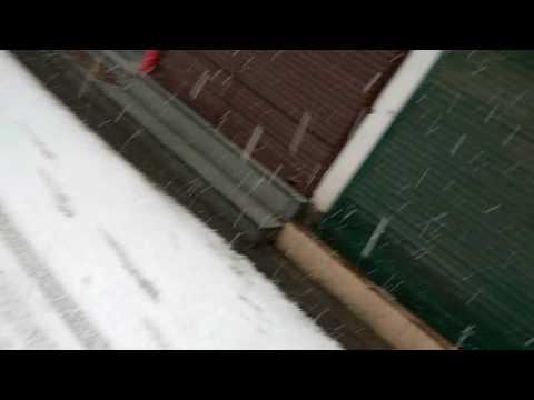 Snowfall Srinagar lal chowk