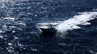 Freeman 28 and 33 easily handle 6-8 foot seas off Miami