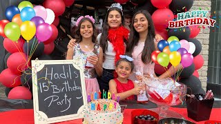 Happy Birthday Party for our Cousin Hadil from HZHtube kids fun!! family Surprise