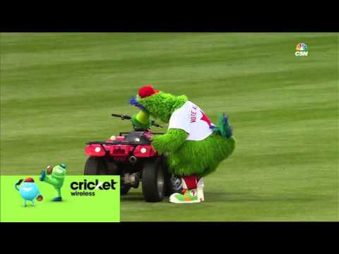Kipnis steals the Phillie Phanatic's ATV