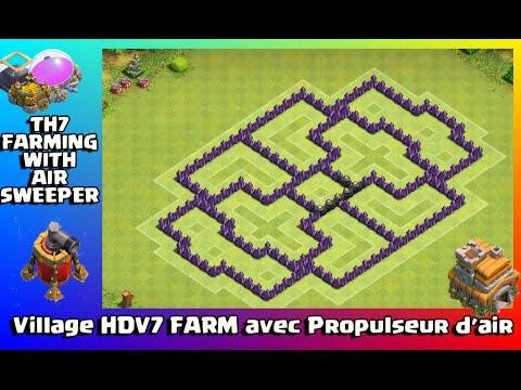 village hdv7 farm avec propulseur d 39 air clash of clans. Black Bedroom Furniture Sets. Home Design Ideas