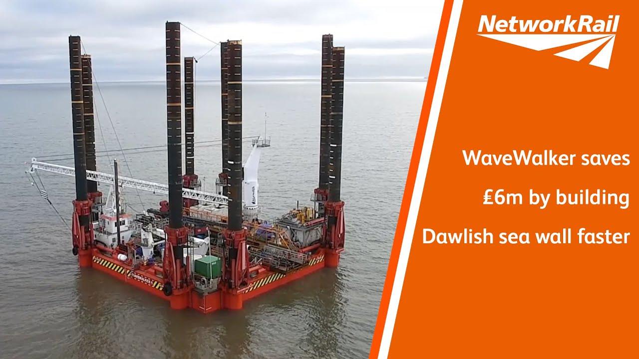WaveWalker saves £6m by building Dawlish sea wall faster