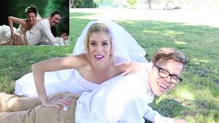 RECREATING CRINGY WEDDING PHOTOS!
