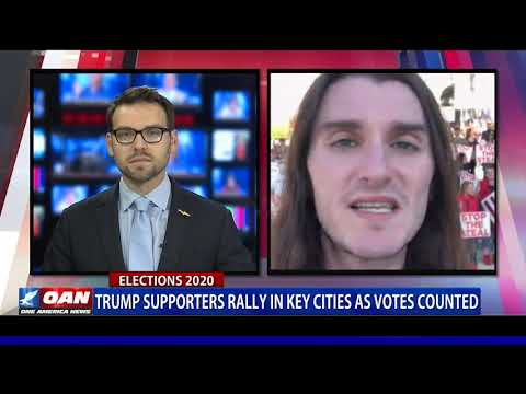 Trump supporters rally in key cities as votes counted