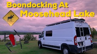 BOONDOCKING at MOOSEHEAD LAKE IN NORTHERN MAINE