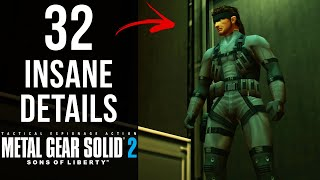 32 INSANE Details in MGS2