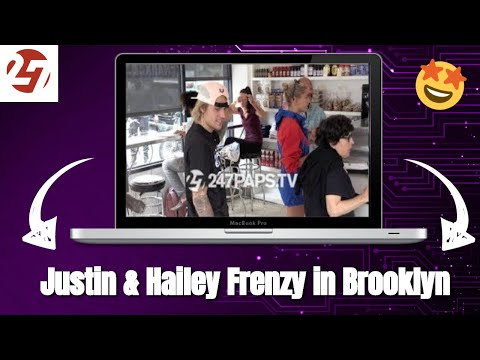 Justin Bieber and Hailey Baldwin Cause a Frenzy in Brooklyn NYC 07-29-18