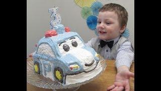 Торт Робокар Полли, торт машинка