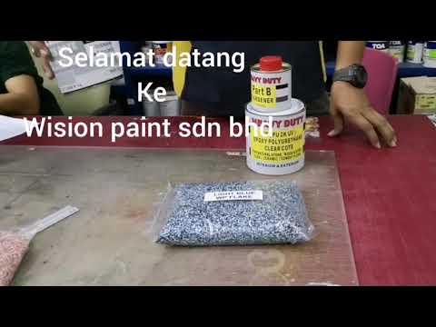 Wp flake toilet epoxy tiles cote wp clear PU 2k cote wision paint