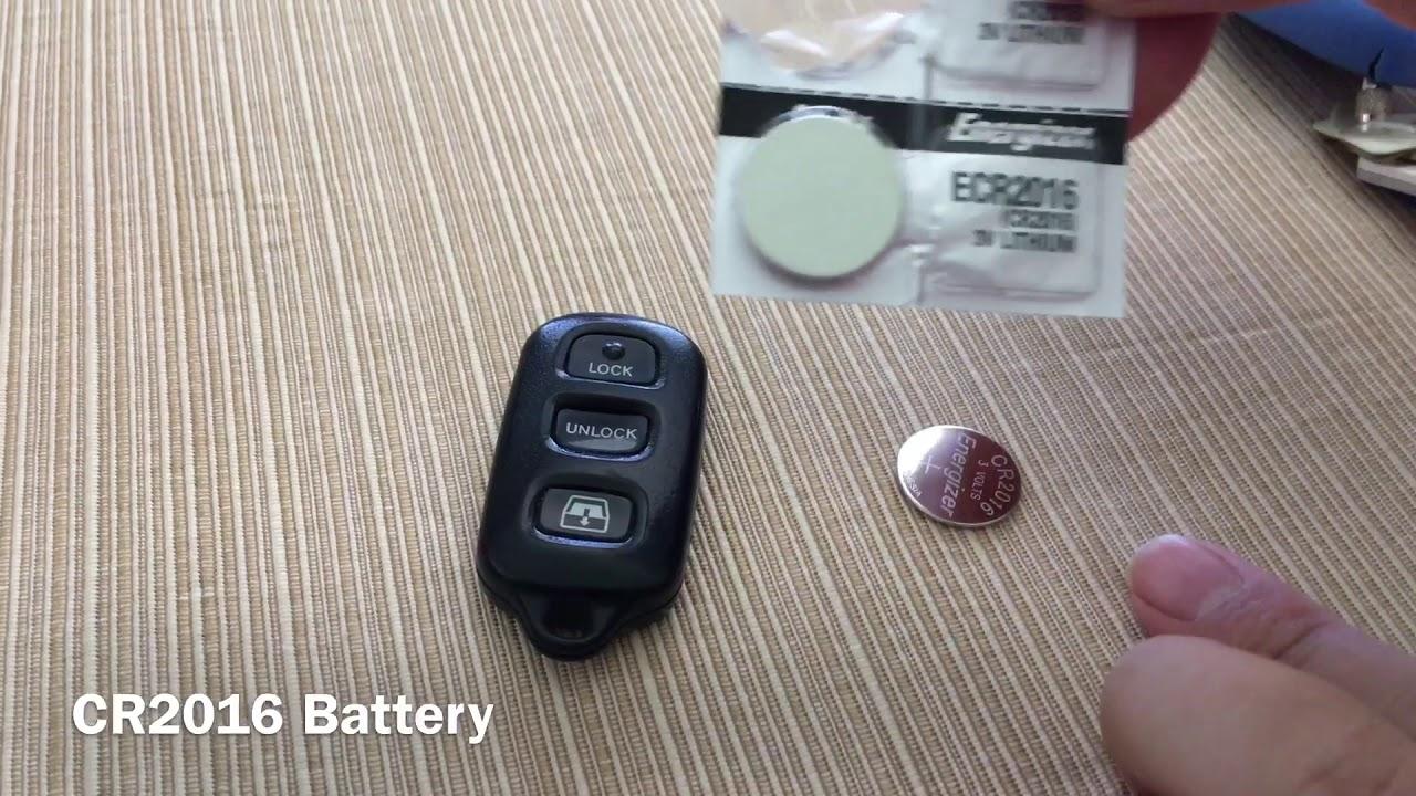 Toyota 4runner 2000 Battery Change Key Fob Clicker