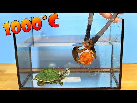 Kann Eine Glühende Metallkugel Styropor Unter Wasser Schmelzen? Experiment