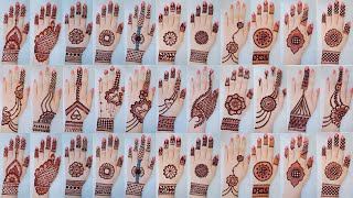 Top 20 mehndi design for backhand_Mehandi ka design_Easy simple Karwa Chauth\Navratri Mehndi designs
