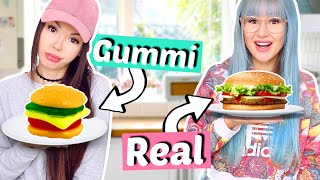 Gummy Food vs. Real Food 👅 Challenge | ViktoriaSarina