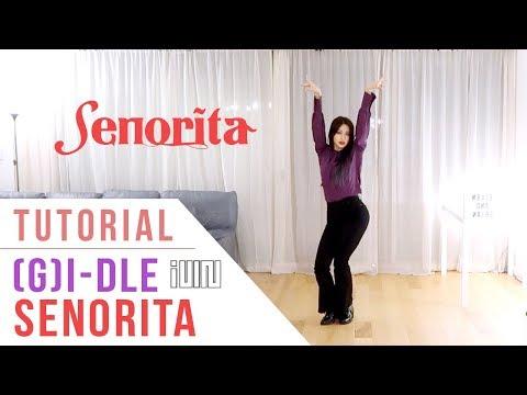 (G)I-DLE (여자)아이들 - 'Senorita' Dance Tutorial (Explanation + Mirrored) | Ellen And Brian