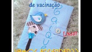 DIY Capa caderneta de Vacinação