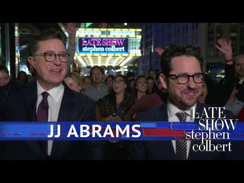 J.J. Abrams, Stephen And The Late  Go To Times Square