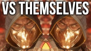 MORTAL KOMBAT 11 - Every Character vs Themselves (Interaction & Intros)