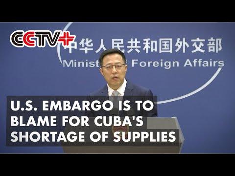 U.S. Embargo is to Blame for Cuba's Shortage of Supplies: Spokesman