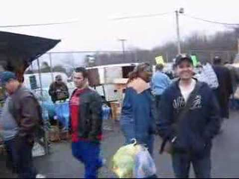 "Englishtown Flea Market - ""Free Pen"" Man"